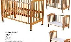 Almost new. Height adjustable cot with lockable wheels.