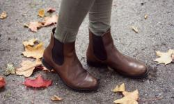 Chelsea Brown Leather Boots from NEXT, a popular UK