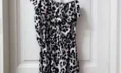 Leopard Print Toga Dress from COTTON-ON. Size XS but
