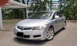 Honda Civic 1.8L engine Silver colour Manual 5 speed