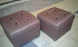 Two used PVC ottomans. $15 each. In very good