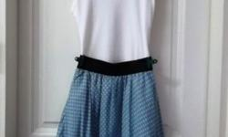 Sweet Baby Blue Polka Dot Skirt with elasticised band.