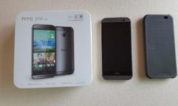 For sale is a used htc one (m8) mobile phone in