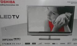 "WTS Toshiba 39"" Full HD 1080p TV with Remote. USB"