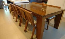 8 seater solid teak wood dining table 2.9m x 1.4m