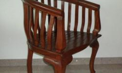 Solid Teakwood Arm-chair. Cash & Carry.