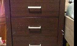 Good condition solid wood bedside chest drawer at $30