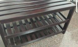 Almost new solid wood bench/ shoes rack SIZE : 800mm X