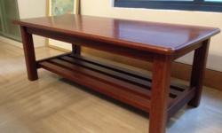 Solid Australian Jarra wood coffee table in good