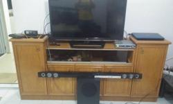 Solid Wood TV Cabinet/Console, A bit old but Condition