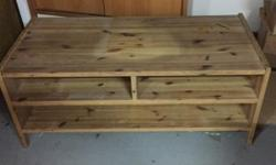 Solid Wood TV console Self collect Size : 130cm (L) x