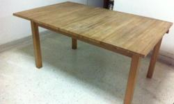 I have a wooden table for sale to clear space in my