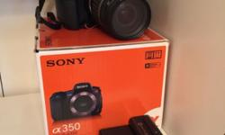 Sony Digital A350 Camera - approximately 7 years old -