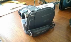 Sony DVD camcorder for sale. Good condition. Come with