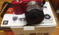 Wts: sony nex-3. Red color. Good condition. Come with