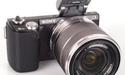 Great condition, great camera. - Black Sony NEX 5N in