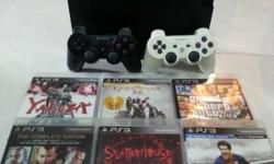 selling ps3 console with 2 original controller and 6