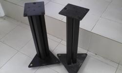 [SOLD] Moving house. A pair of bookshelf speaker stands