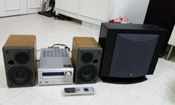 Speaker, subwoofer and CD Receiver / Amplifier Selling