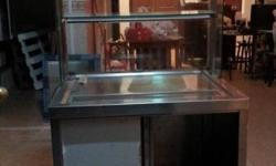 Stainless steel sink with rack and stand. 80cm(L) x