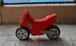 Am selling my son's Step 2 motorbike, some wear but