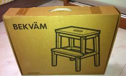 A brand new set of Ikea Bekvam step stool for sale.