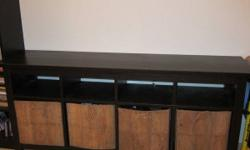 IKEA Console Table and baskets. View on