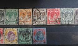 See image provided. Most of the stamps are hinged. I