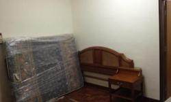 Furnished studio for rental. Comes with tv, fridge,