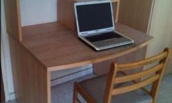 1) strong and sturdy desk with table top book shelf.