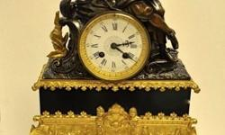 Stunning French Mantel Clock 19th Century Mechanical