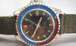 Stunning Diver Watch by Baylor SWISS   New Old Stock