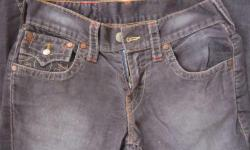 Stunning Men TRUE RELIGION Designer Black Corduroy