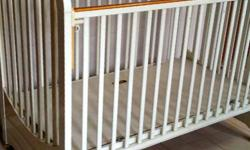 White Cot *used 7/10 *bought for S$800+ *wooden