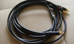 SubWoofer interconnect audio precision cables 1 RCA to