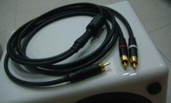 Audio High Grade SubWoofer interconnect cables 1 RCA to