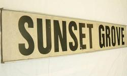 Sunset Grove AuthenTic LTA Road Sign $388/- One & only