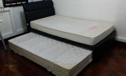 PULL OUT SINGLE BED WITH SEAHORSE MATTRESS CAN CONVERT