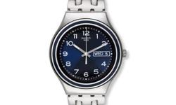 Display Type: Analog Dial Color: Blue Calendar: Date &