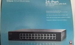 I'm selling a Cisco switch (CISCO SF 100-24) for 50