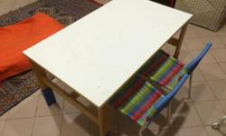 IKEA table ad chair