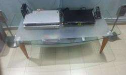Self collect condition 8/10 Glass Tables $25/- each