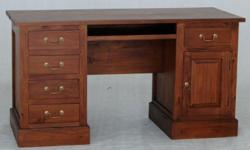 Teak 1 Solid Door 5 Drawer Desk Executive Desk,