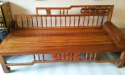 Teak daybed/2.5 seater for sale. In very good
