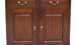 Teak Furniture 2 Solid Door 2 Drawer Buffet Cabinet