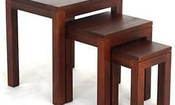 Teak Nest of Table in Mahogany Teak Nest of Table