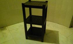 3 Level Teak Wood Stand Condition 9/10. L35cm x W29cm x