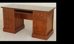 Teak 5 Drawer Writing desk, Teak Writing Table, teak
