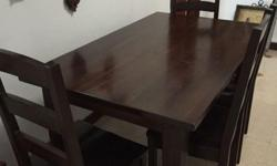 Teakwood barang barang dining table with 4 chairs in