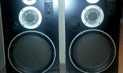 Selling 1 pair of Technics honeycomb disc bass 3 way